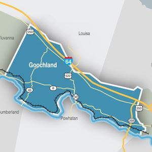 Map of Goochland County transportation