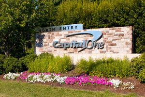 Capital One building sign